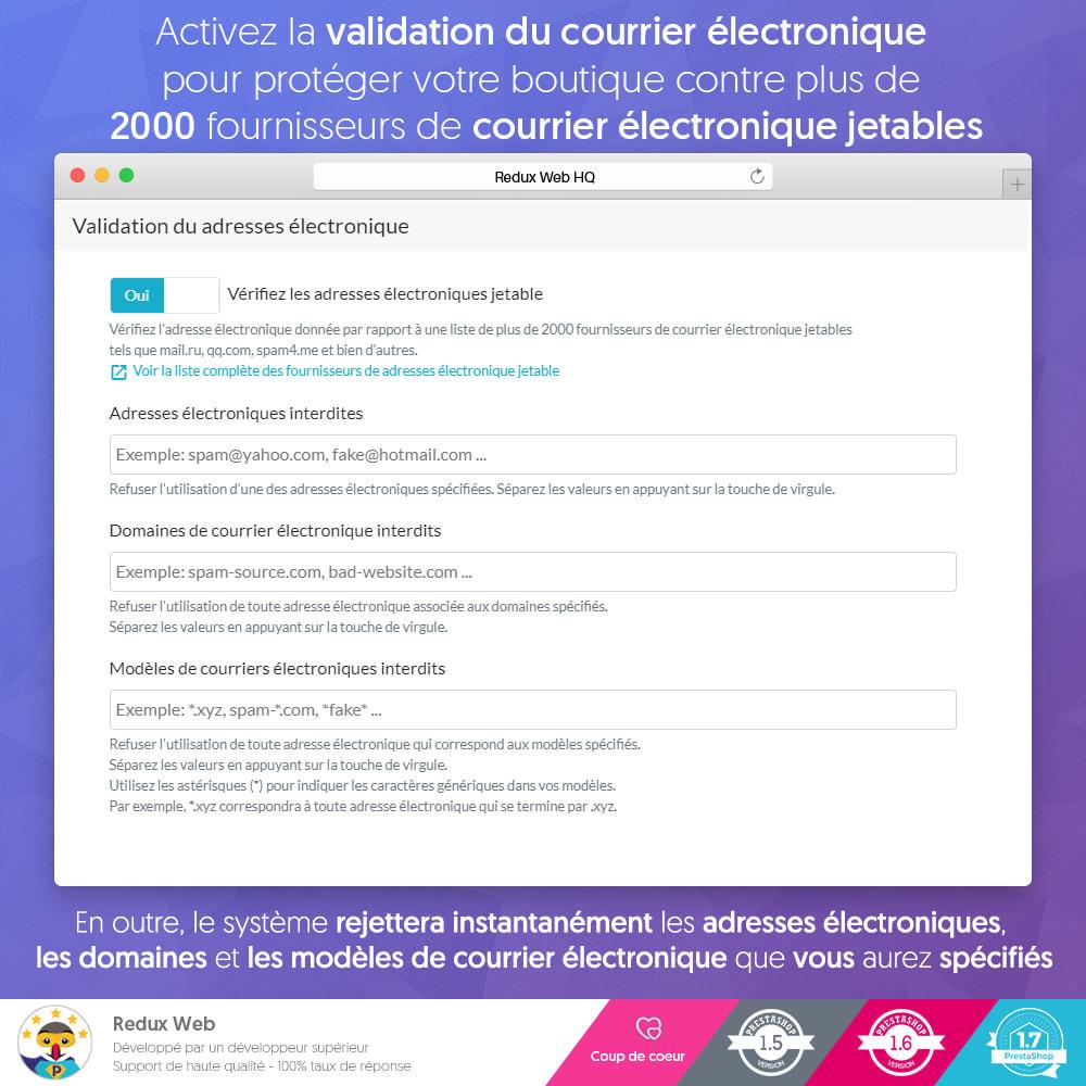 module - Sécurité & Accès - Antispam et Faux Comptes Google Re-Captcha Avancé - 5