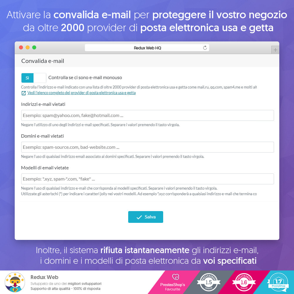 module - Security & Access - Avanzato Google Re-Captcha Anti Spam & Conti Falsi - 5