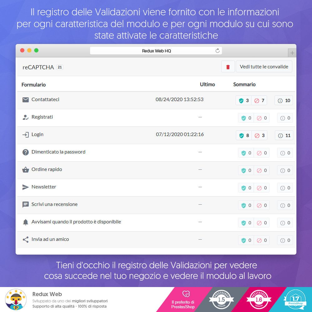 module - Security & Access - Avanzato Google Re-Captcha Anti Spam & Conti Falsi - 8