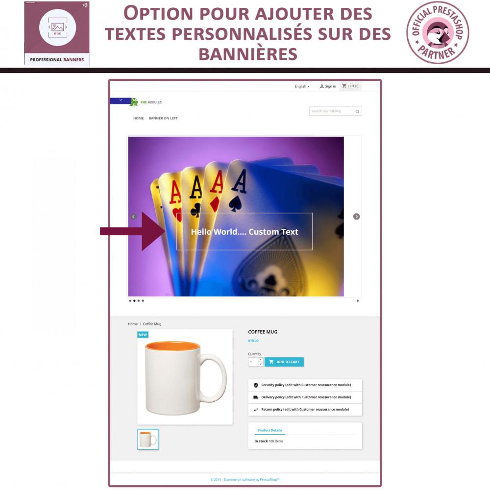 module - Sliders & Galeries - bannière réactif et Curseur d'image - 3