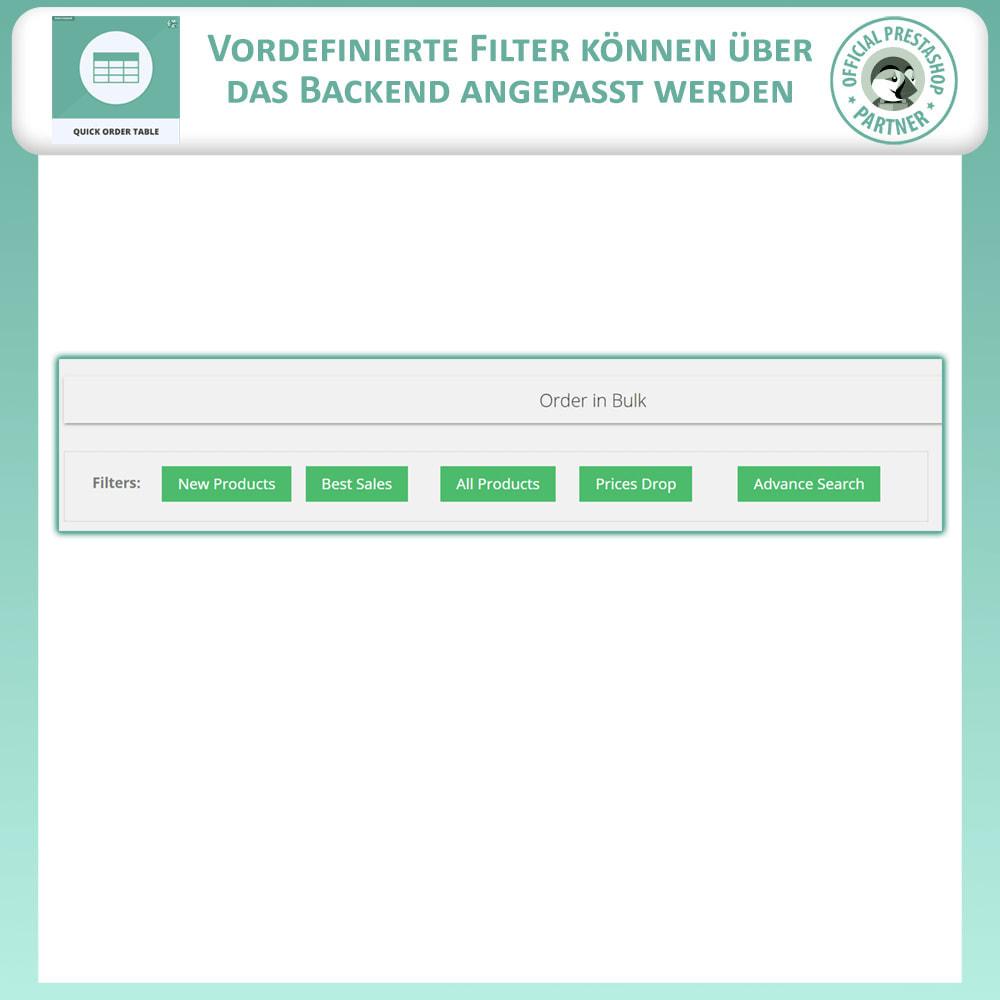module - Auftragsabwicklung - Quick Order Table - 3