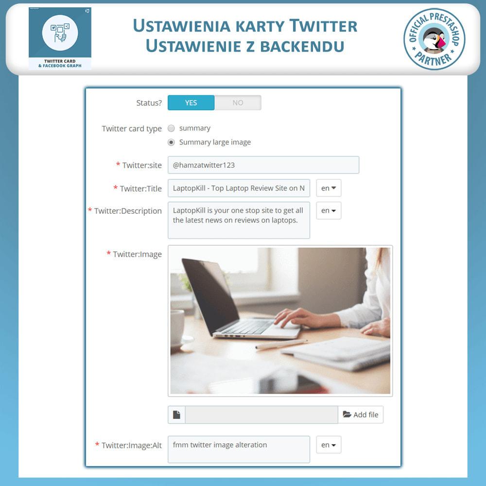 module - Widgety serwisów społecznościowych - Karta Twittera i Wykres Mediów Społecznościowych - 5