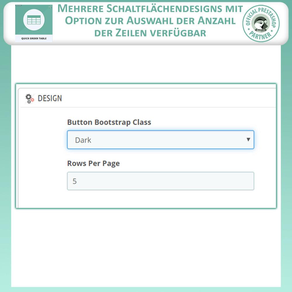 module - Auftragsabwicklung - Quick Order Table - 10