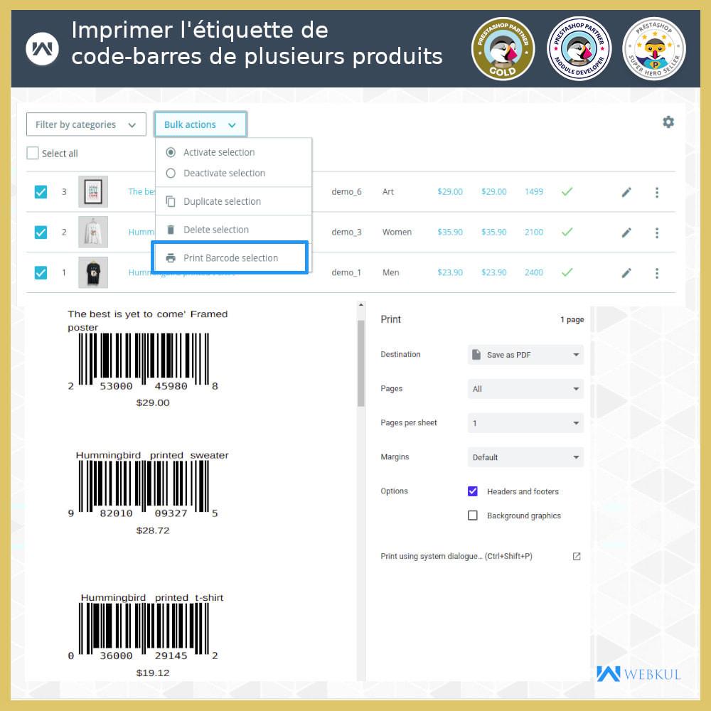 module - Préparation & Expédition - Étiquette code-barres de produit | générateur de code - 2