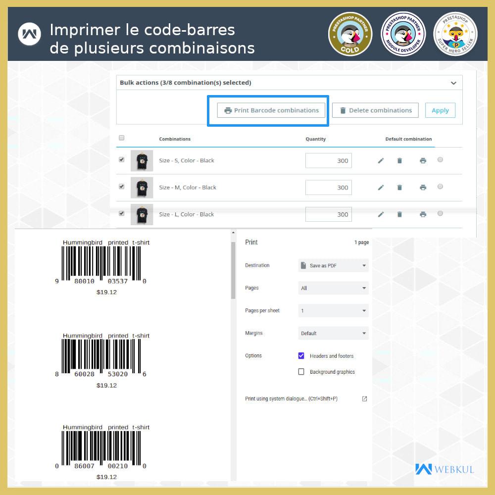module - Préparation & Expédition - Étiquette code-barres de produit | générateur de code - 4