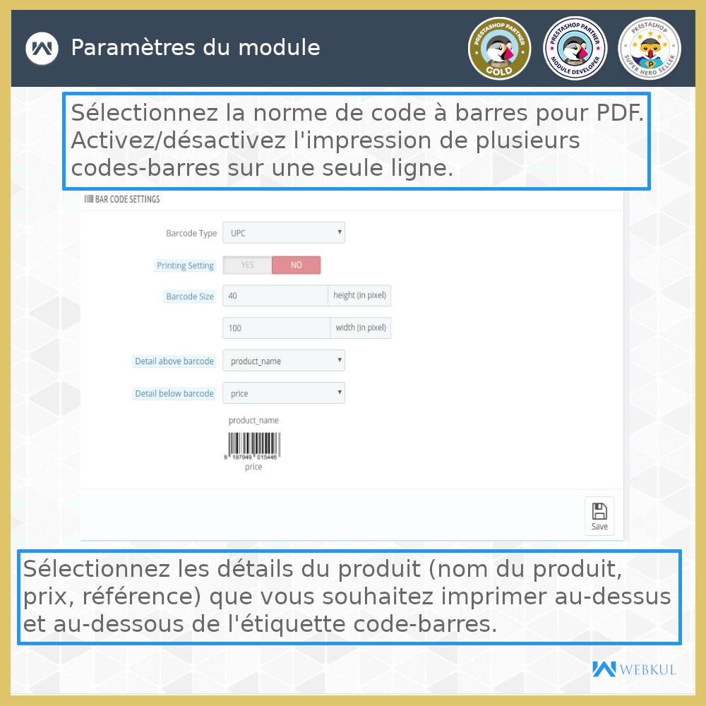 module - Préparation & Expédition - Étiquette code-barres de produit | générateur de code - 5