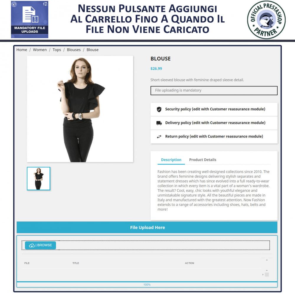 module - Altre informazioni & Product Tab - Caricamento File Obbligatorio - 3