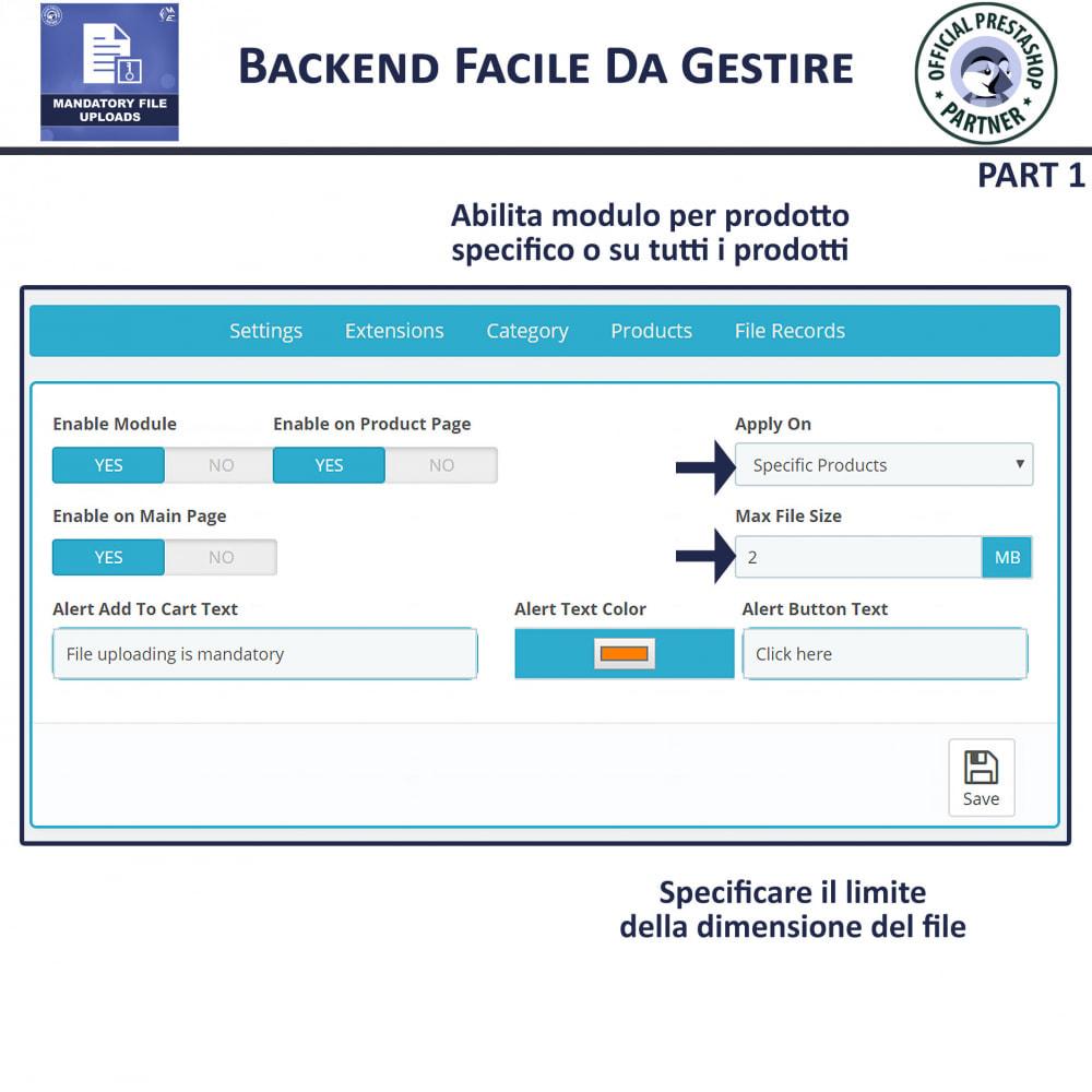 module - Altre informazioni & Product Tab - Caricamento File Obbligatorio - 5