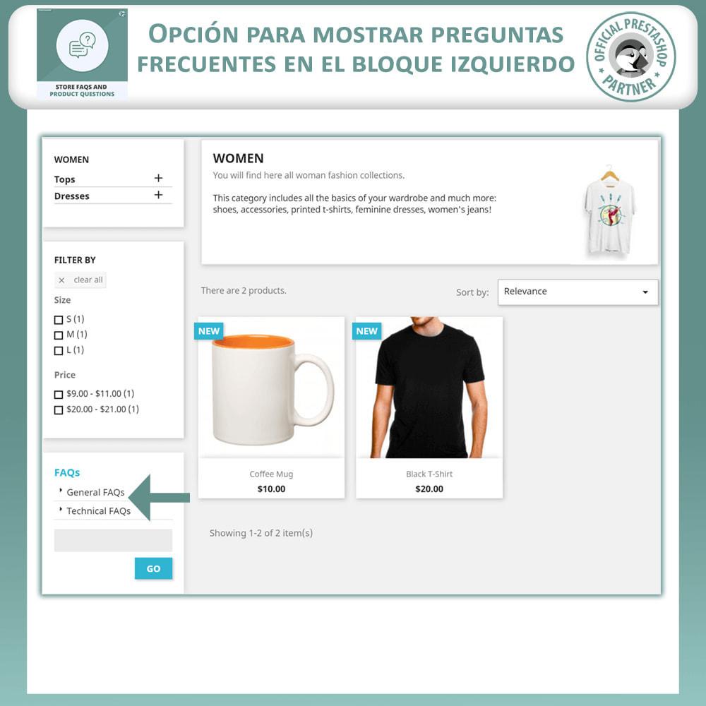 module - Preguntas Frecuentes - Reguntas Frecuentes + Preguntas del Producto - 7
