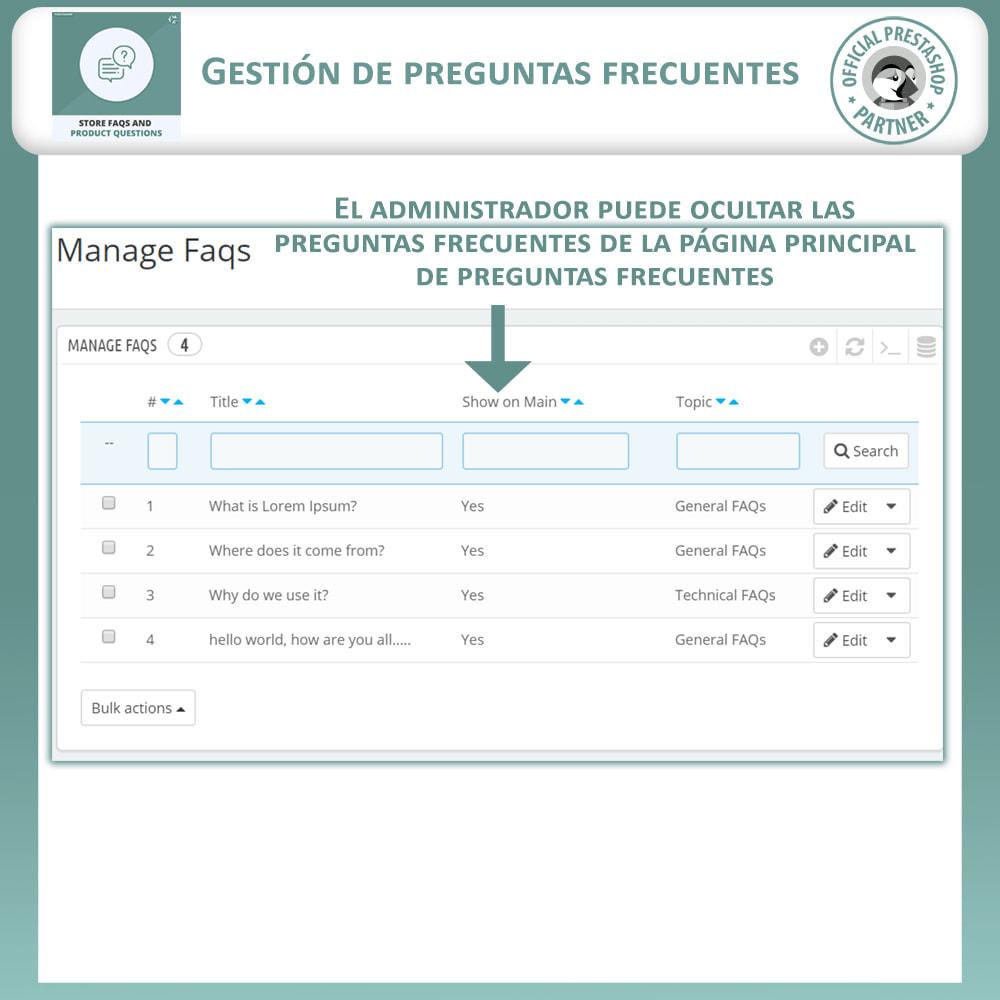 module - Preguntas Frecuentes - Reguntas Frecuentes + Preguntas del Producto - 11