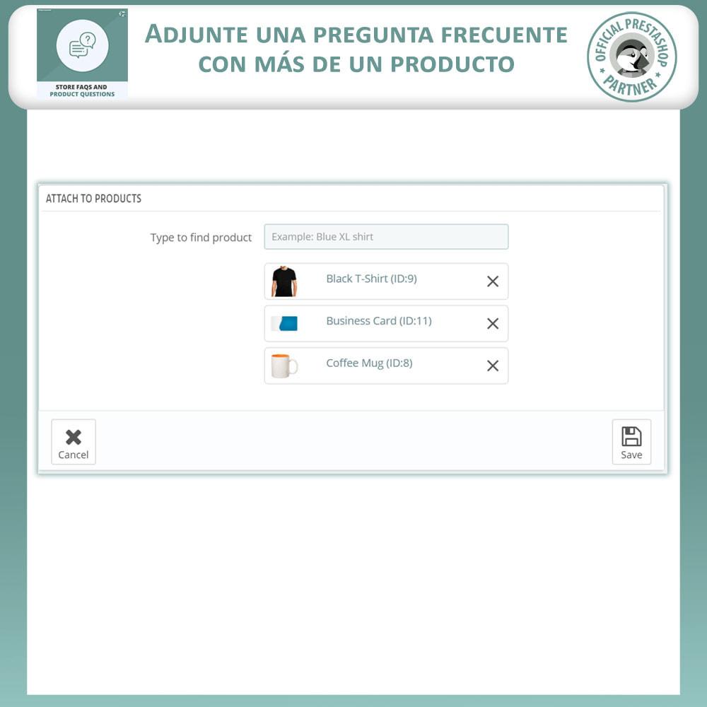 module - Preguntas Frecuentes - Reguntas Frecuentes + Preguntas del Producto - 12
