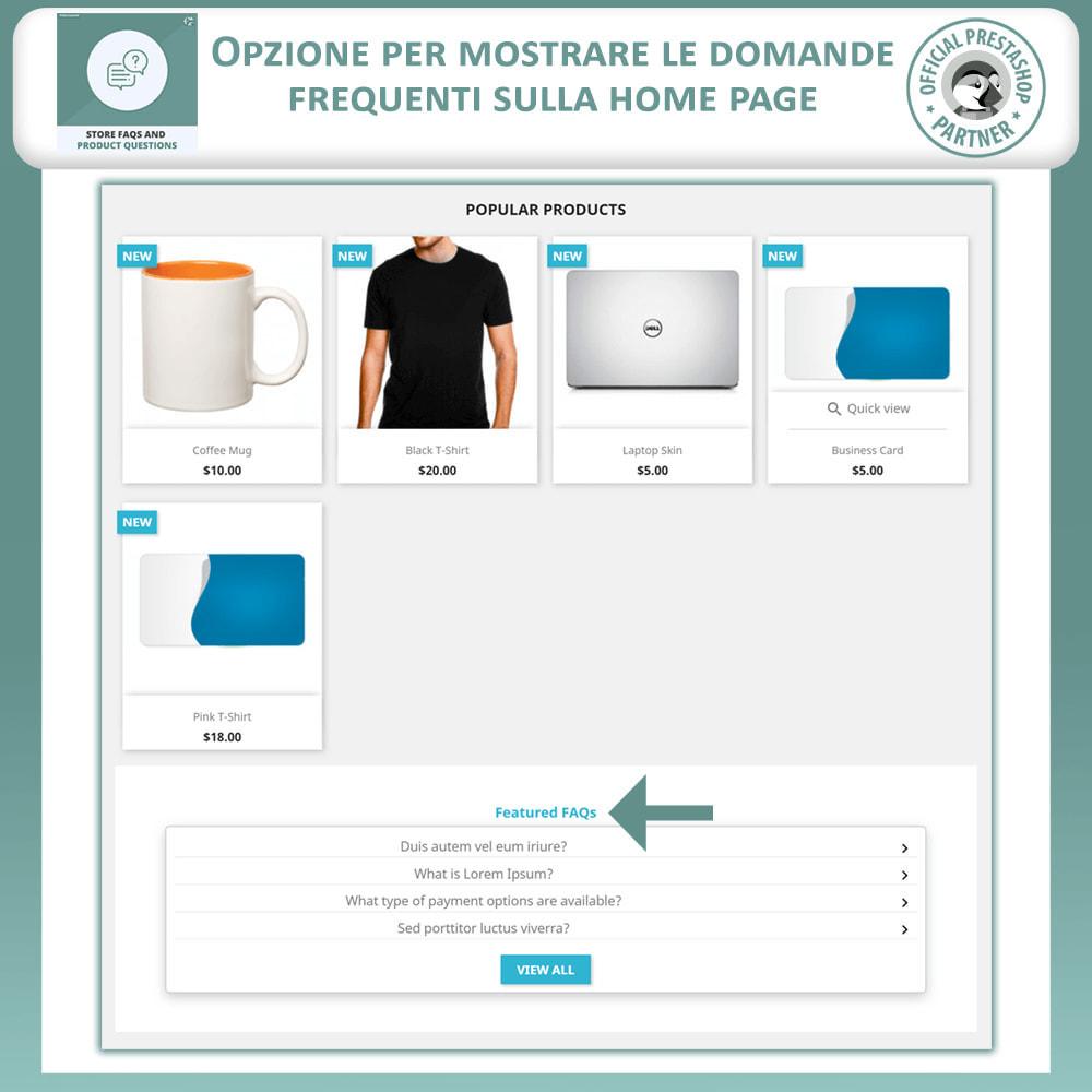 module - FAQ (Domande Frequenti) - FAQ del Negozio + Domande sui Prodotti - 2