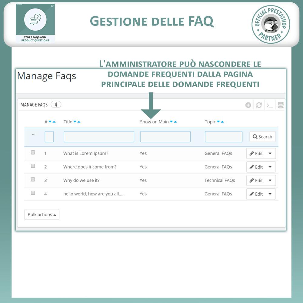 module - FAQ (Domande Frequenti) - FAQ del Negozio + Domande sui Prodotti - 11