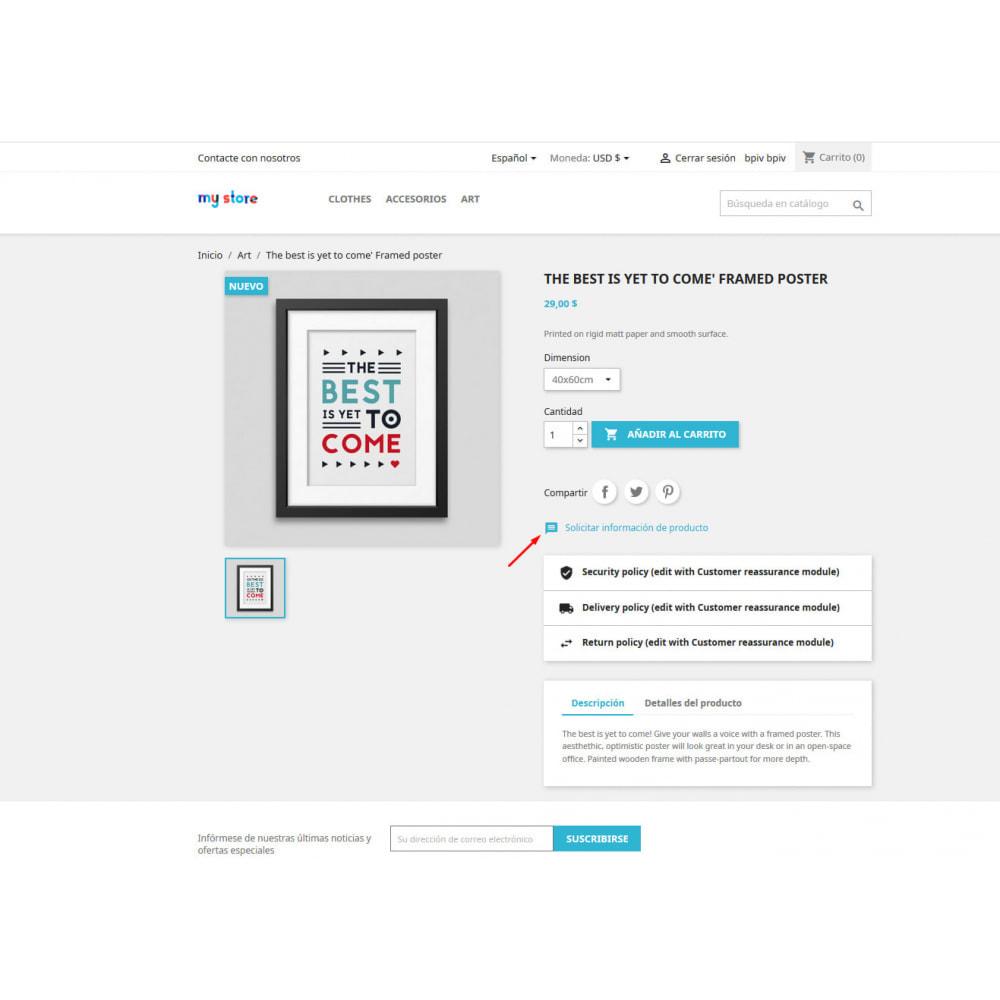 module - Informaciones adicionales y Pestañas - Pregunta en página de producto y gestión histórico - 2