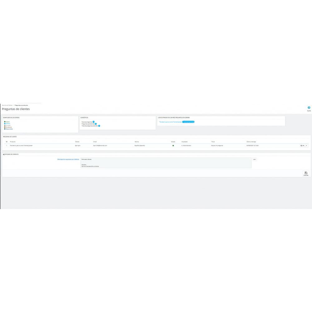 module - Informaciones adicionales y Pestañas - Pregunta en página de producto y gestión histórico - 10
