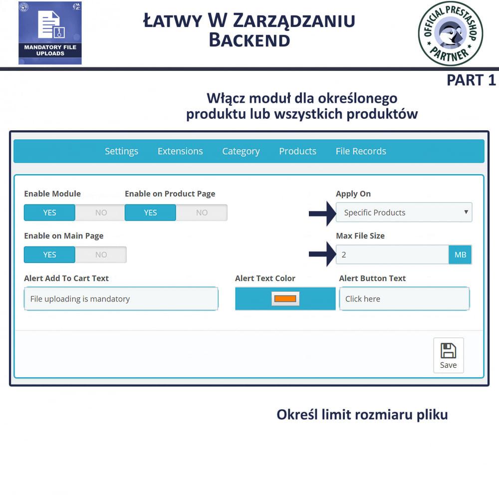 module - Dodatkowe informacje & Zakładka produktu - Obowiązkowe Przesyłanie Plików - 5