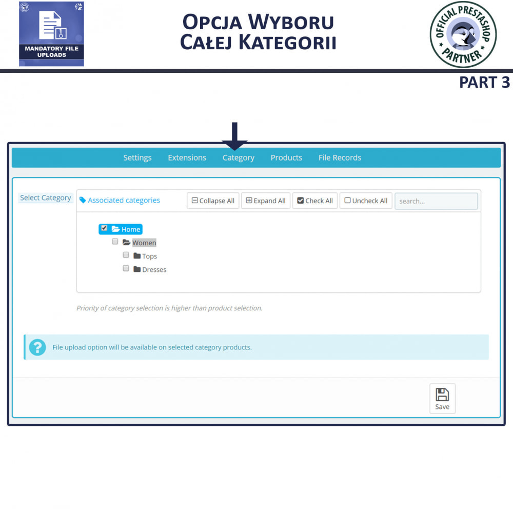 module - Dodatkowe informacje & Zakładka produktu - Obowiązkowe Przesyłanie Plików - 7