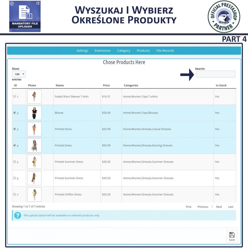 module - Dodatkowe informacje & Zakładka produktu - Obowiązkowe Przesyłanie Plików - 8