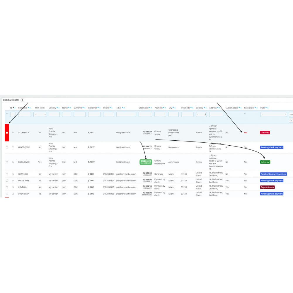 module - Gestione Ordini - Visualizzazione dell'elenco degli ordini configurabile - 5