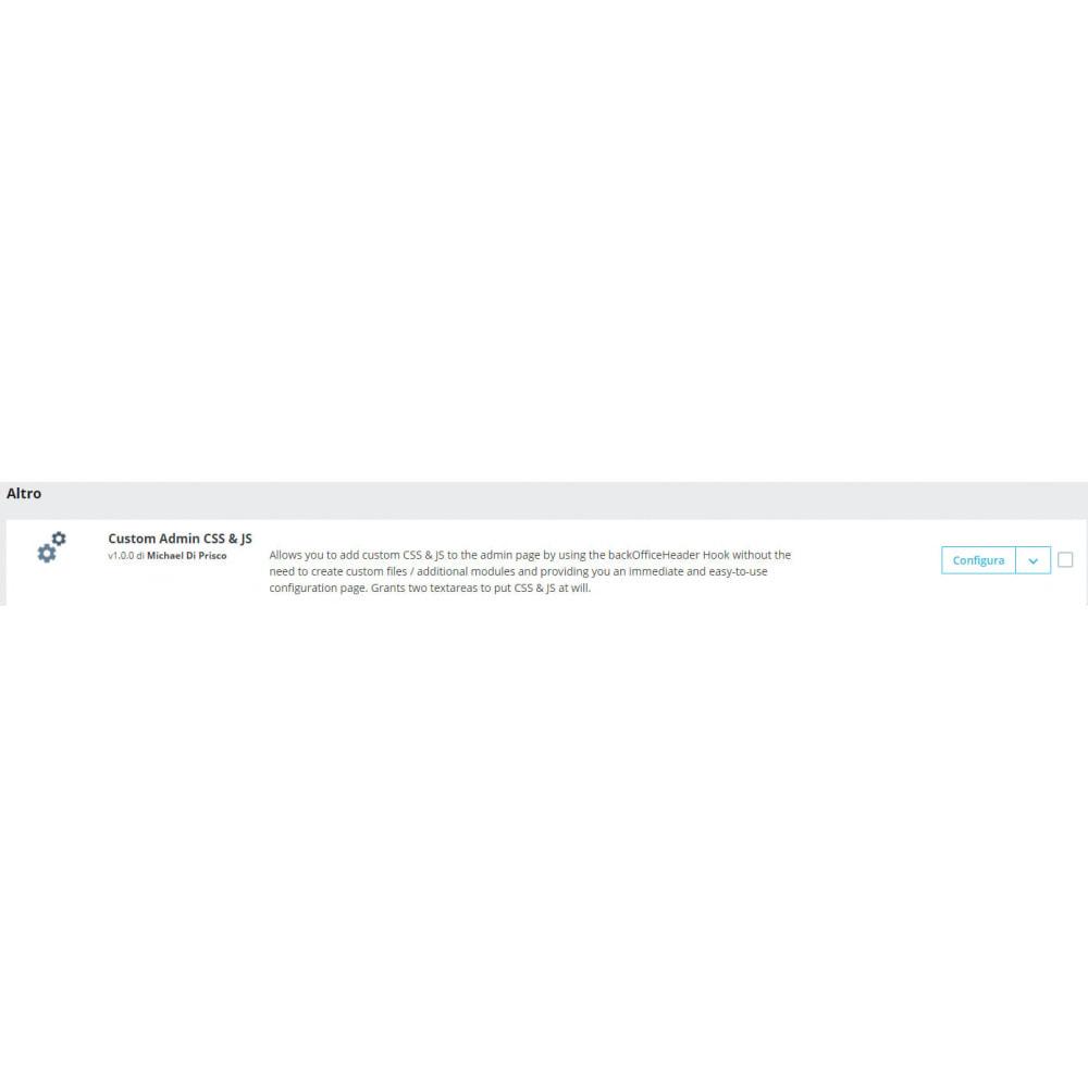 module - Инструменты администрирования - Custom Admin CSS & JS - 1