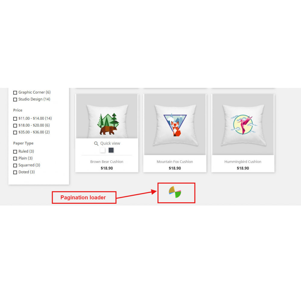 module - Navigatie middelen - Auto Pagination | Infinite Scroll | Auto Load Products - 1