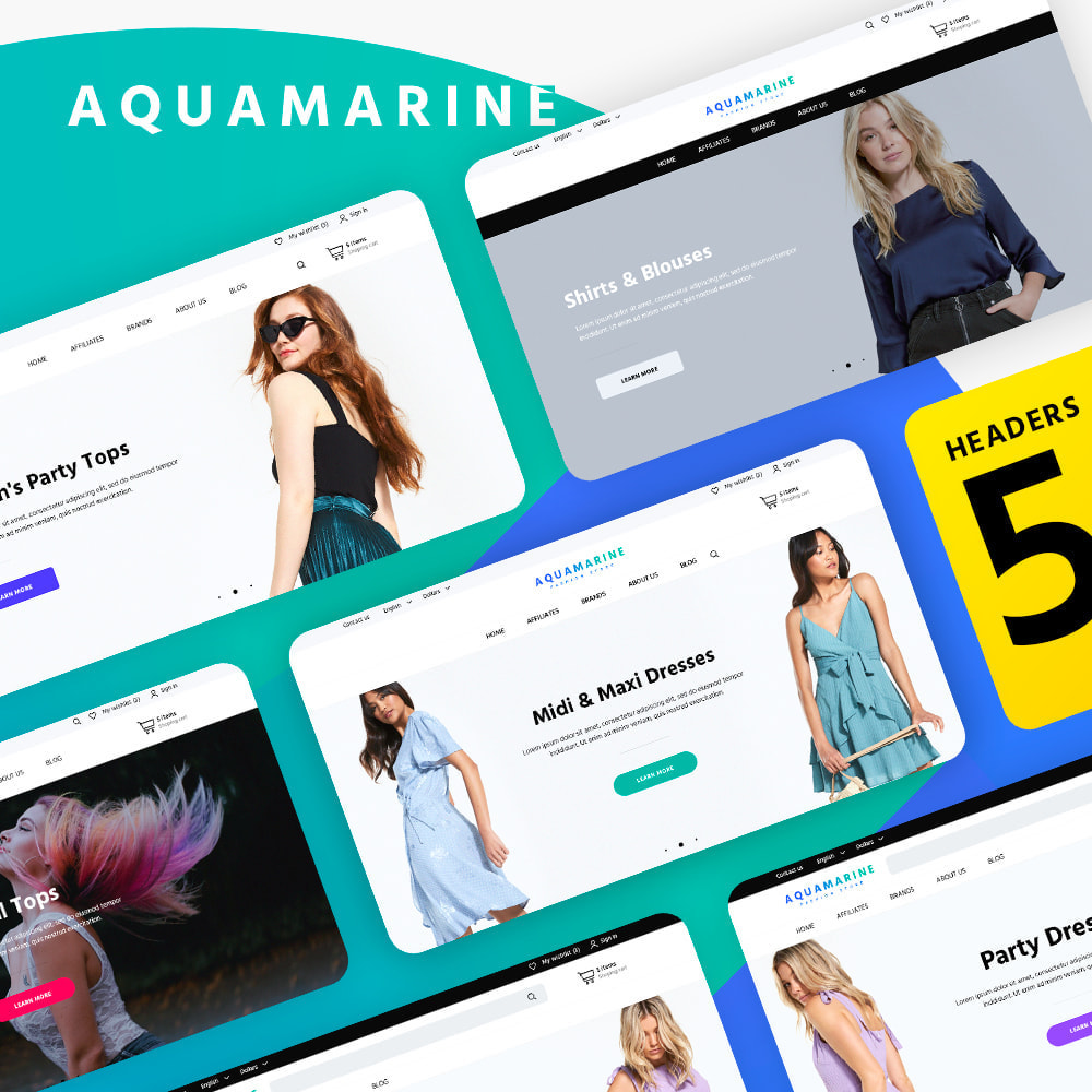 theme - Moda & Calzature - Aquamarine - 1