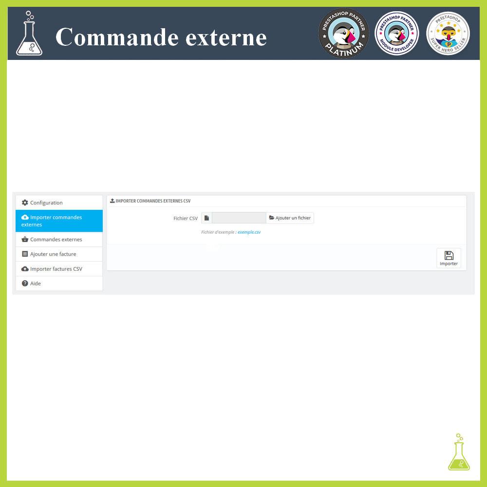 module - Gestion des Commandes - Importer des commandes externes - 4