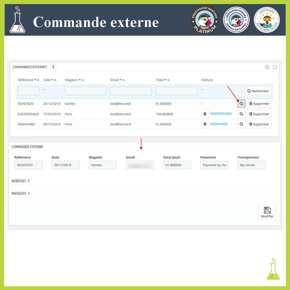 module - Gestion des Commandes - Importer des commandes externes - 6