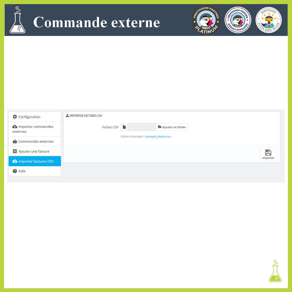 module - Gestion des Commandes - Importer des commandes externes - 11