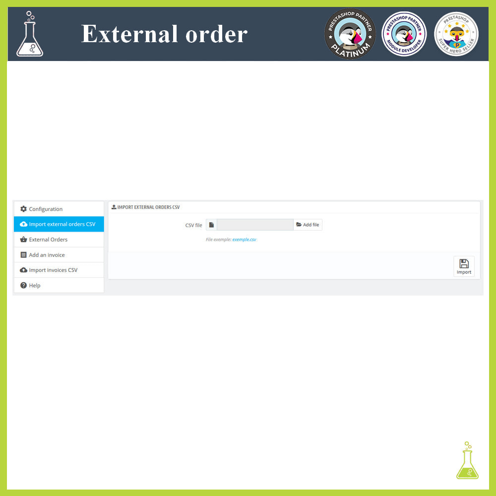 module - Gestión de Pedidos - Import external orders - 4