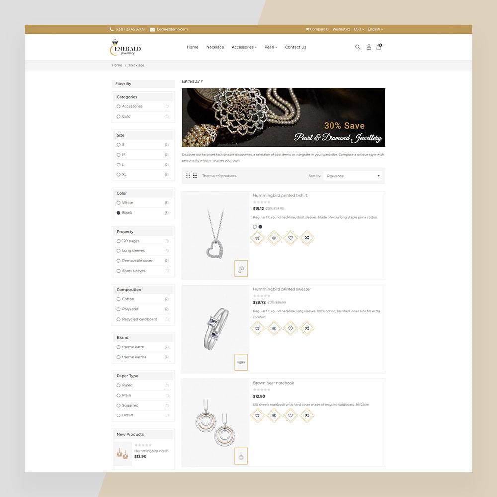 theme - Sieraden & Accessoires - Emerald Jewelry - Jewellery & Accessories Template - 8