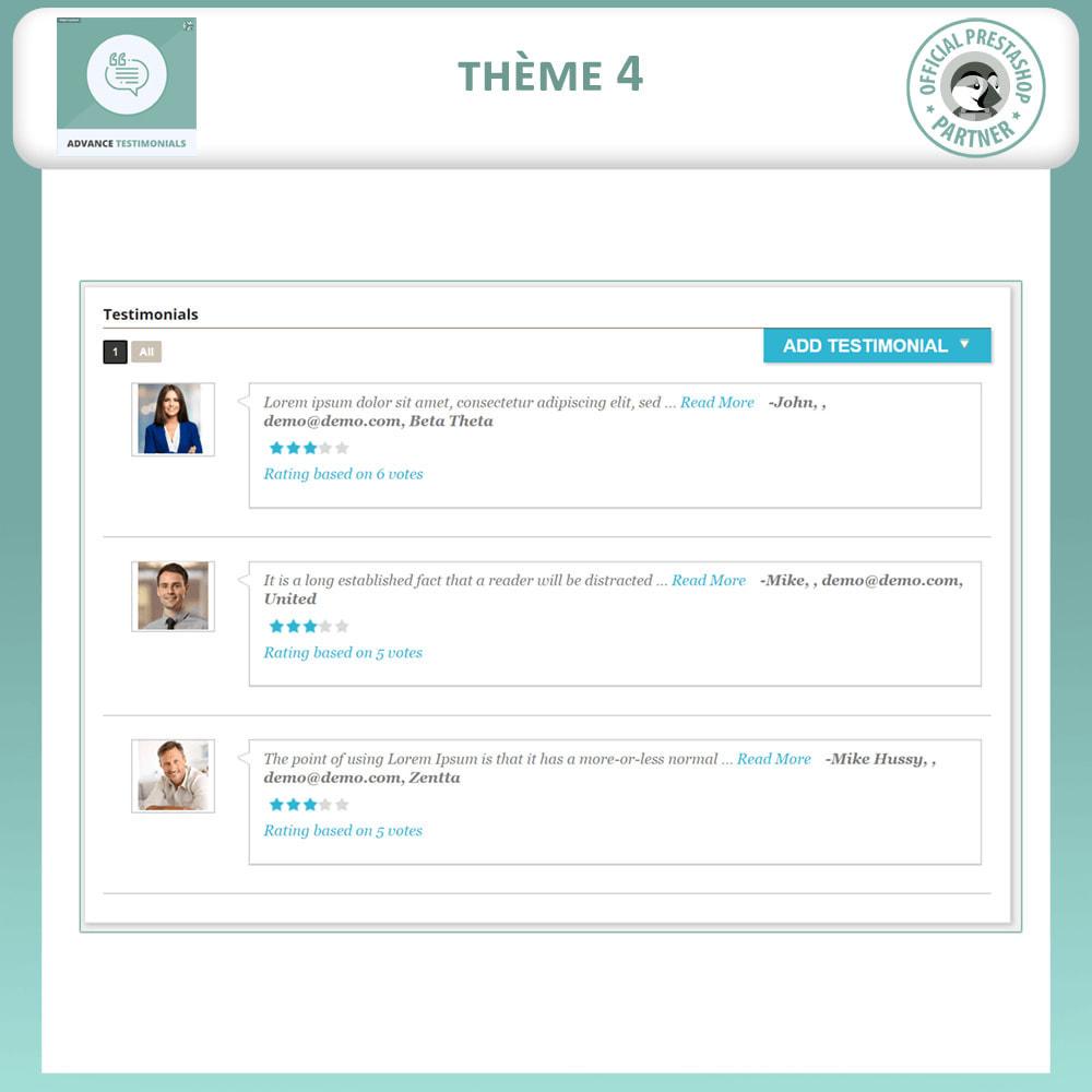 module - Avis clients - Témoignages avancés - Avis Clients avec Photos - 5
