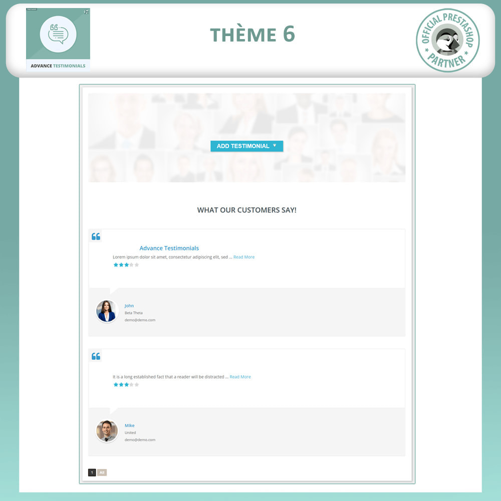 module - Avis clients - Témoignages avancés - Avis Clients avec Photos - 7