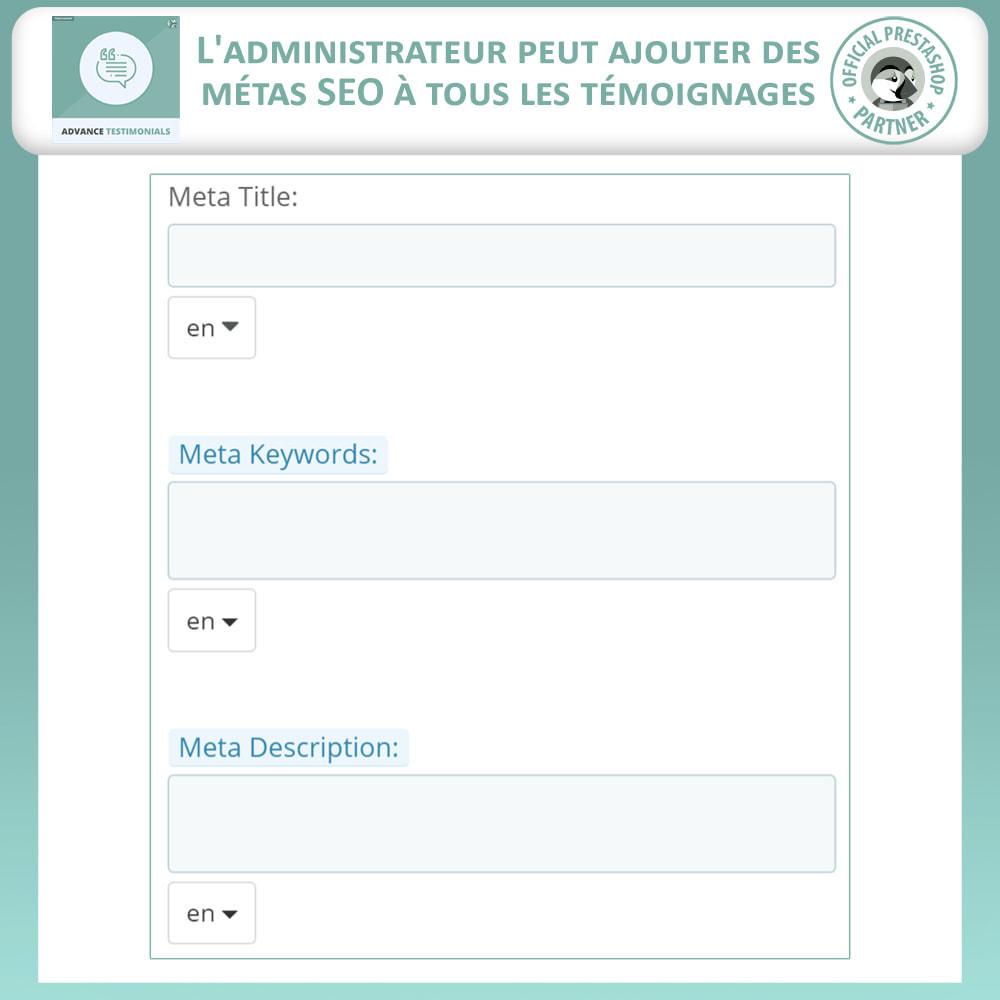 module - Avis clients - Témoignages avancés - Avis Clients avec Photos - 12