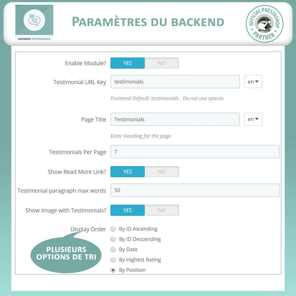 module - Avis clients - Témoignages avancés - Avis Clients avec Photos - 14
