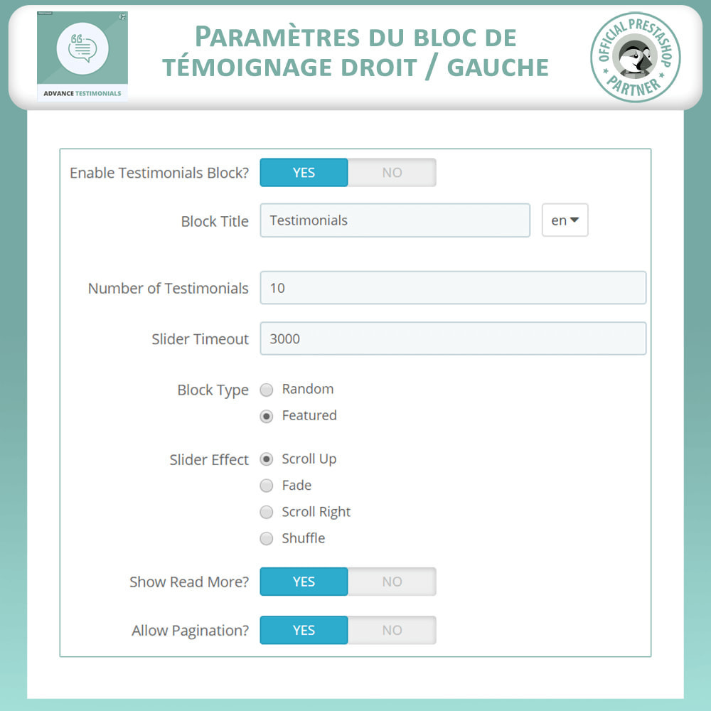 module - Avis clients - Témoignages avancés - Avis Clients avec Photos - 17