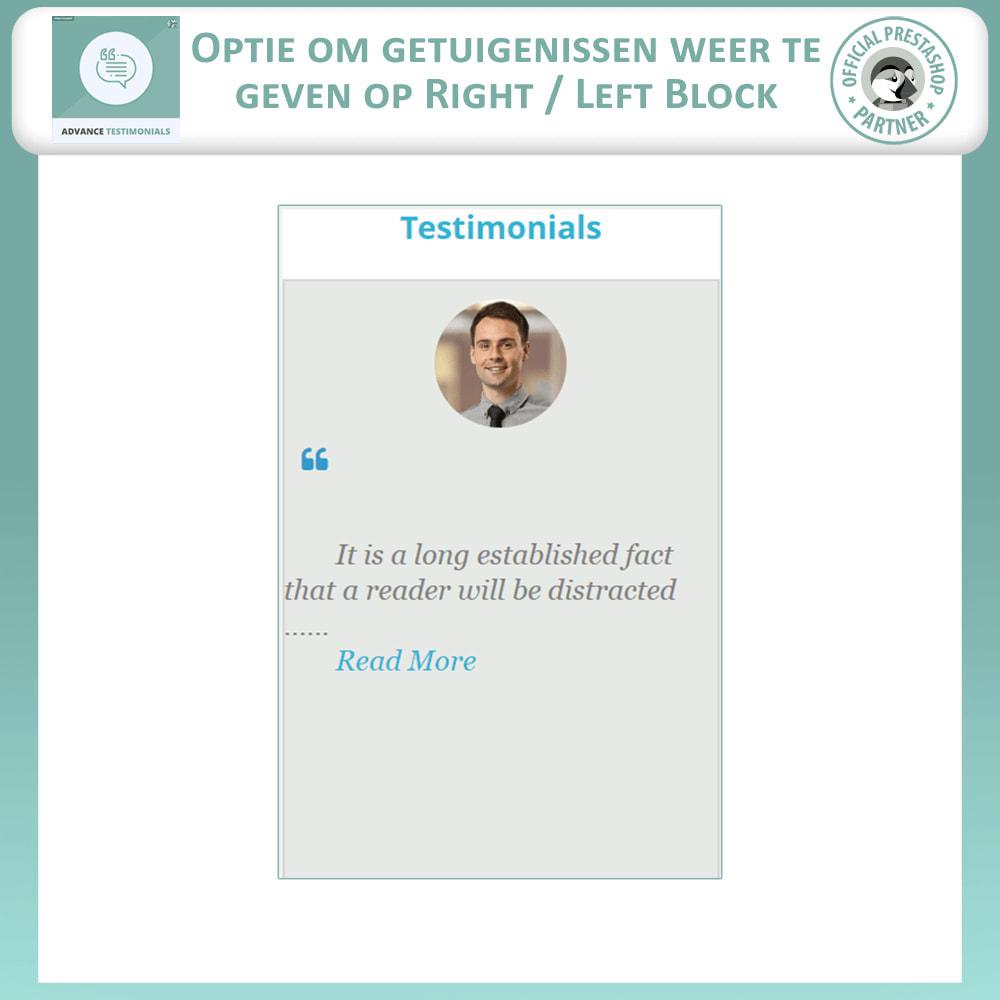 module - Klantbeoordelingen - Geavanceerde Getuigenissen - Klantrecensies - 9