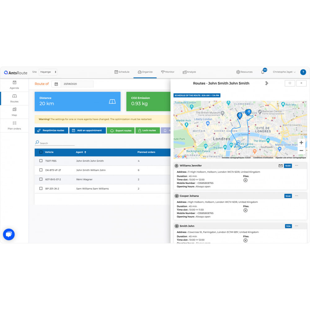 module - Trasporto & Logistica - AntsRoute - Delivery Scheduling & Optimization - 5