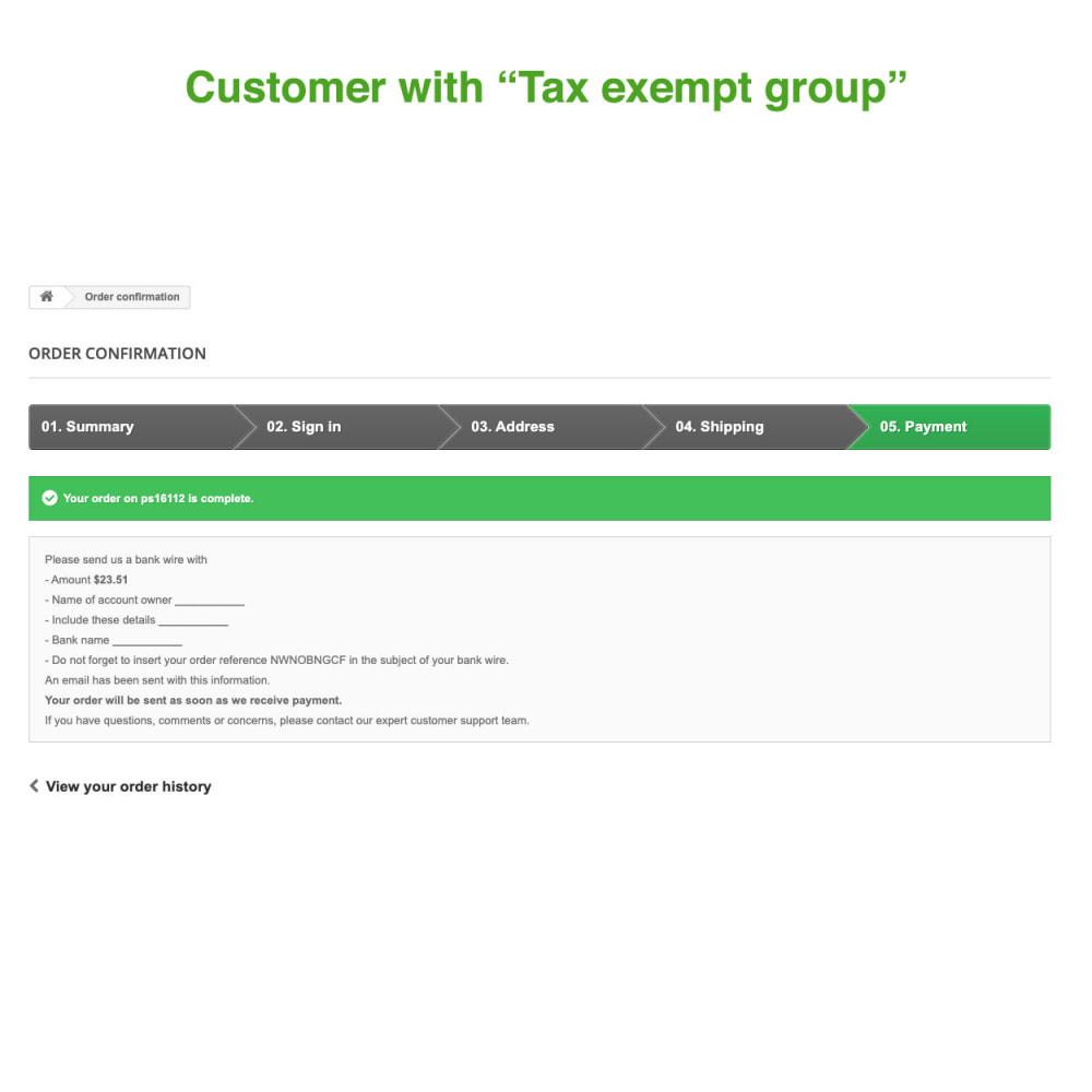 module - Księgowość & Fakturowania - Tax Exempt Group - 12