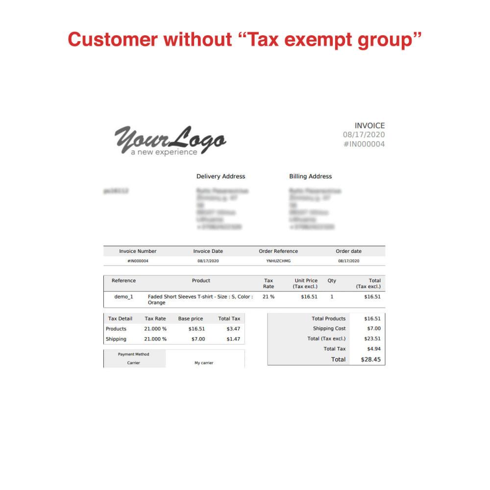 module - Księgowość & Fakturowania - Tax Exempt Group - 15