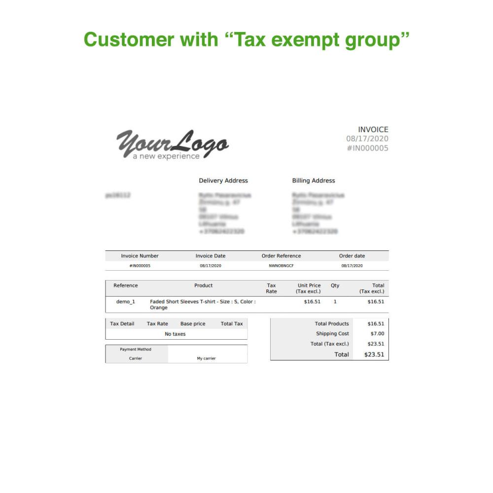module - Księgowość & Fakturowania - Tax Exempt Group - 16