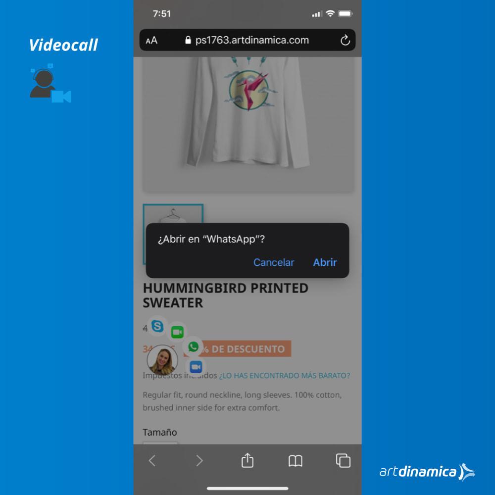 module - Wsparcie & Czat online - Video Customer Support WhatsApp, Facetime, Skype & Zoom - 3