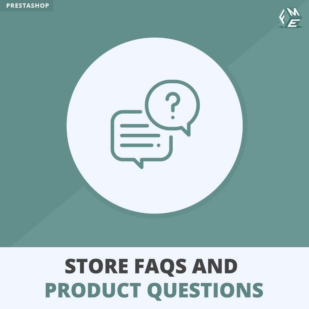 module - ЧАВО (FAQ) - Магазин FAQs + Товар FAQs (Часто задаваемые вопросы) - 1