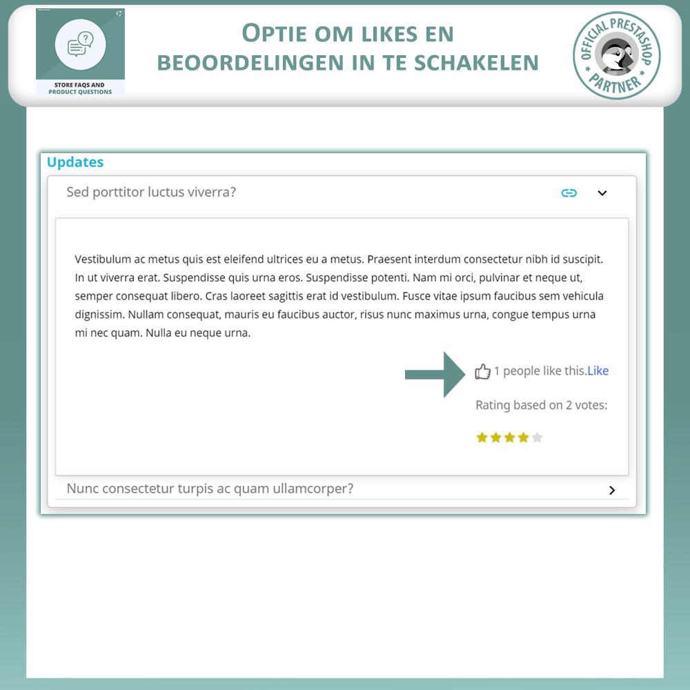 module - FAQ (Veelgestelde vragen) - Winkel FAQs + Product FAQs (Veelgestelde Vragen) - 5