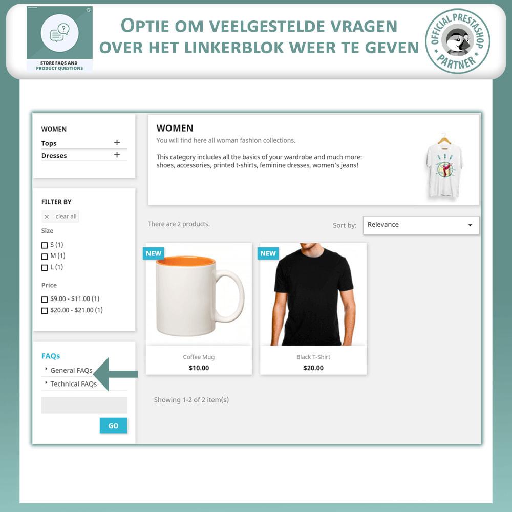 module - FAQ (Veelgestelde vragen) - Winkel FAQs + Product FAQs (Veelgestelde Vragen) - 7