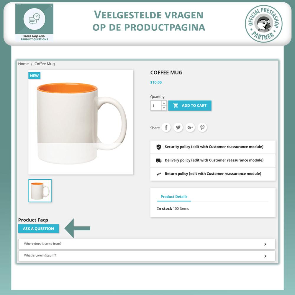 module - FAQ (Veelgestelde vragen) - Winkel FAQs + Product FAQs (Veelgestelde Vragen) - 8