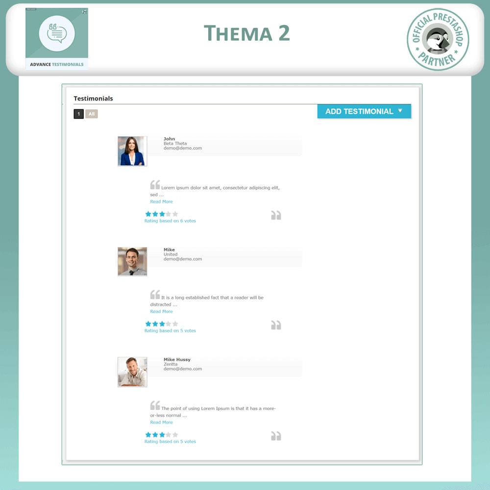 module - Kundenbewertungen - Fortgeschrittene Testimonials - Kundenrezensionen - 3