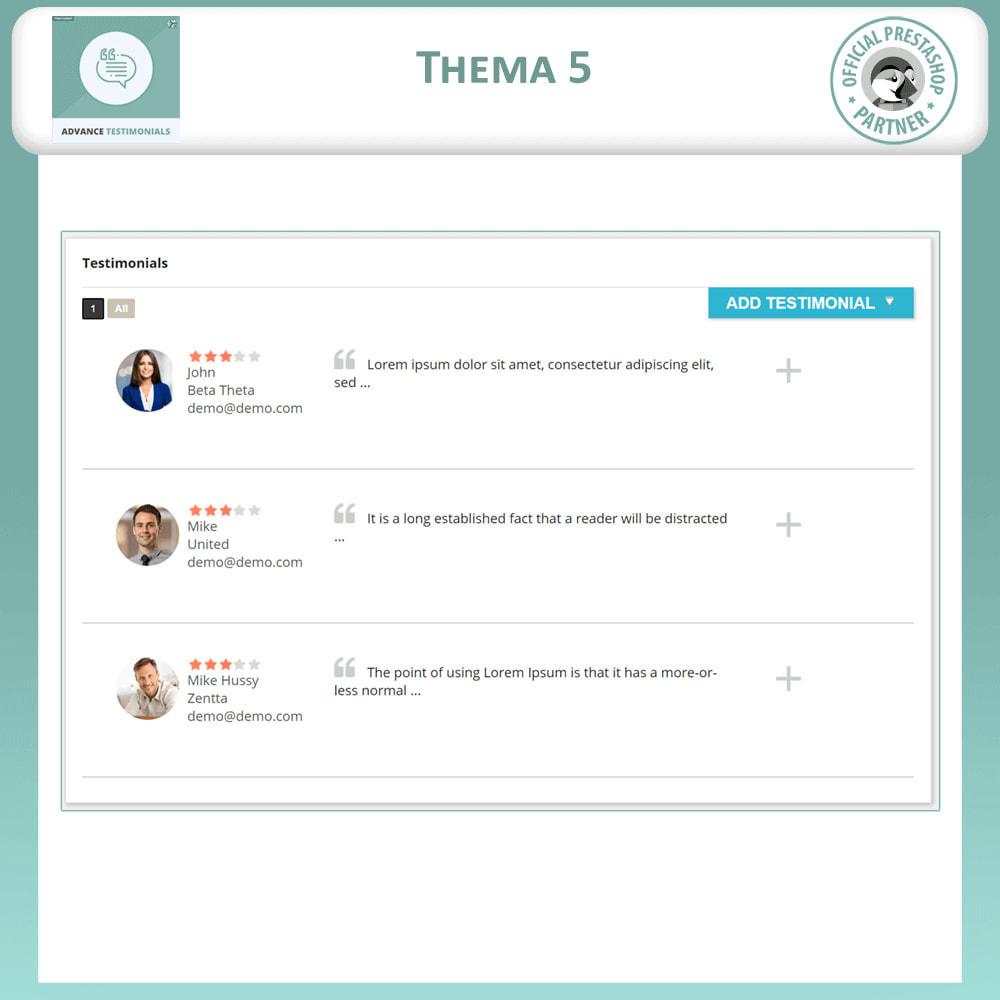 module - Kundenbewertungen - Fortgeschrittene Testimonials - Kundenrezensionen - 6
