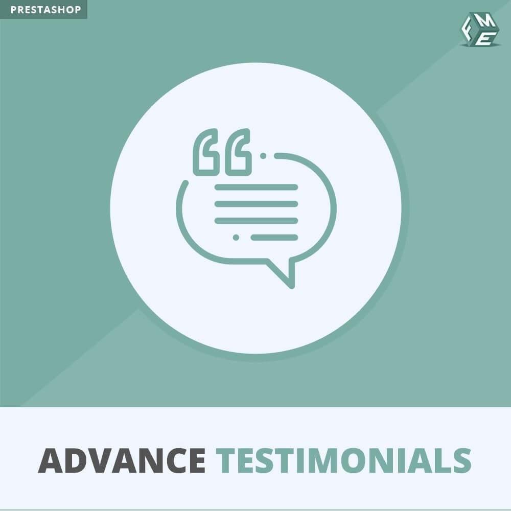 module - Comentarios de clientes - Testimonios anticipados - Reseñas de Clientes - 1