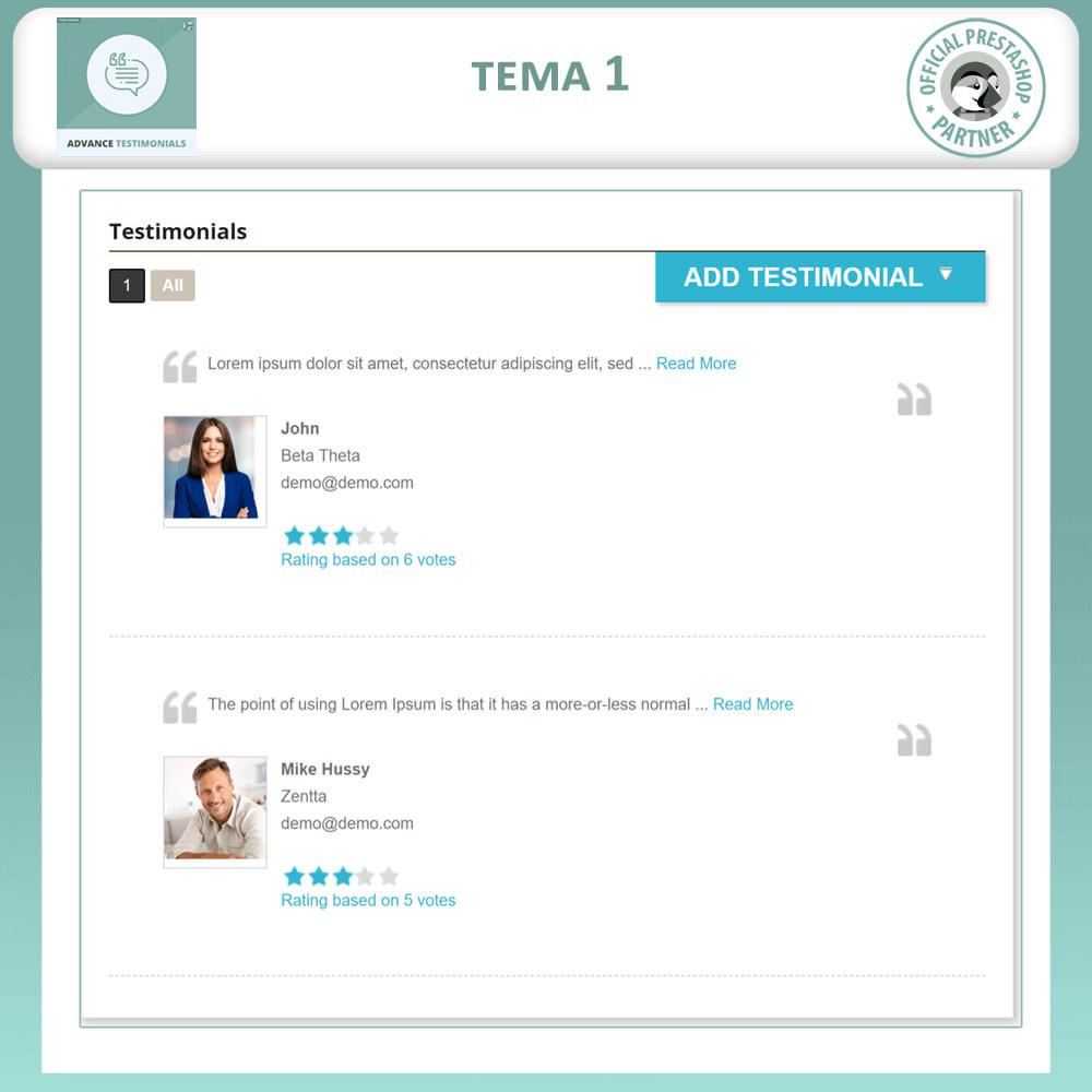 module - Comentarios de clientes - Testimonios anticipados - Reseñas de Clientes - 2